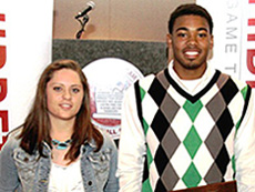 Hayden Hamby (left) of West Morgan and Trevor Lacey of Butler were named the 2011 Miss and Mr. Basketball. (Photo courtesy creativefx).